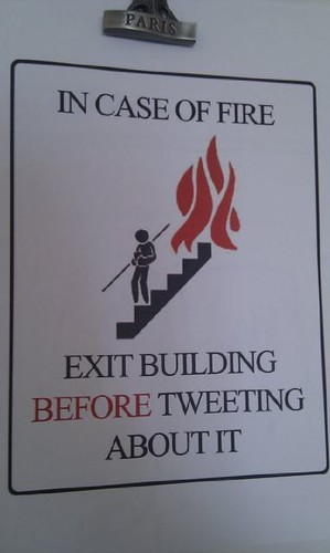 Exit Building Before Tweeting About It