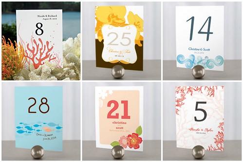 Beach Wedding Table Numbers