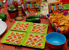 Alice's Birthday Party II (Isadora S.S.) Tags: party food color mexico plates spicy nachos