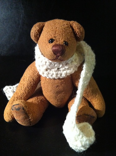 Borromini Bear  and Ea's scarf