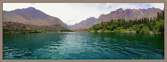 Upper Kachura Lake(Panorama) (IshtiaQ Ahmed revival to Photography) Tags: pakistan lake hot water streams utopia coldwater deosai skardu kachura upperkachura ruggedterrain northernareasofpakistan gilgitbaltistan sukhnaala
