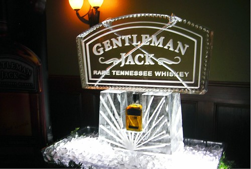 Gentleman Jack double luge ice sculpture