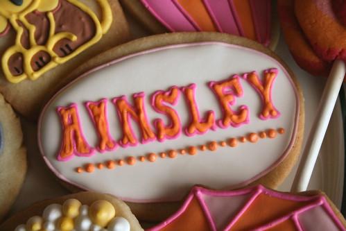 Circus font cookies.