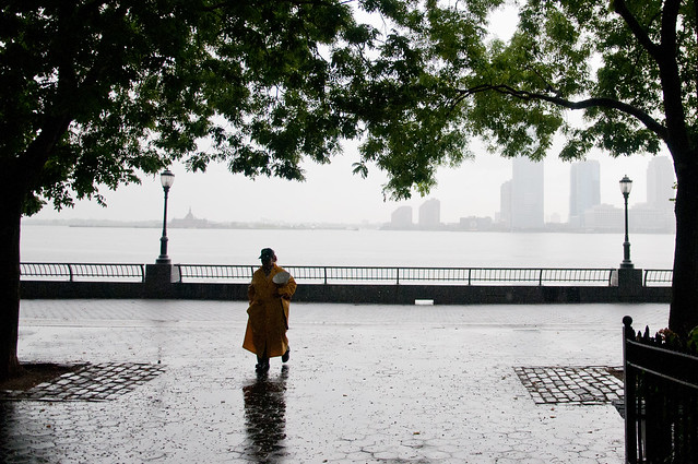 Hurricane Irene: Patrolling Battery Park