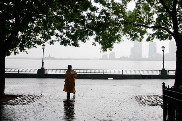 Hurricane Irene: Patrolling Battery Park