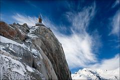 aiguille du midi (heavenuphere) Tags: france mountains alps alpes landscape 1 chamonix 1022mm montblanc gi massif aiguilledumidi snowclouds hautesavoie rhnealpes chamonixmontblanc tlphriquedelaiguilledumidi