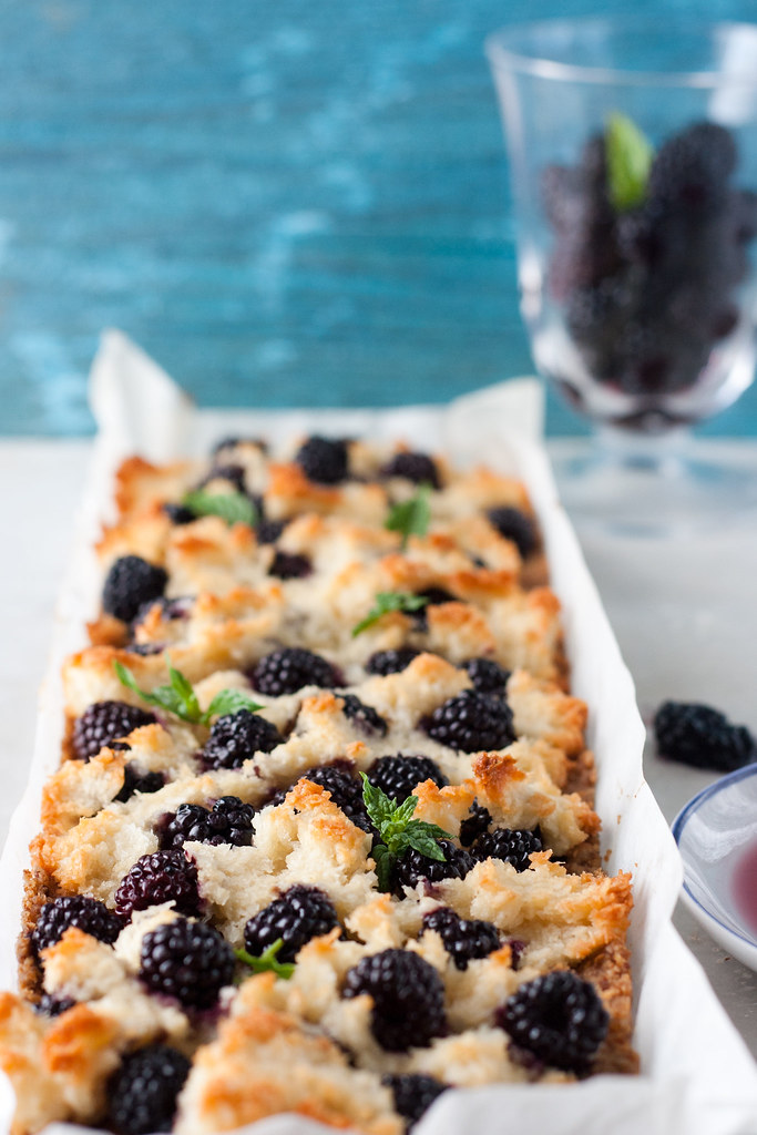 Blackberry And Coconut Macaroon Tart