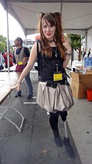 J-Pop Great Silver Skirt (Lynn Friedman) Tags: sanfrancisco street fashion festival japanese post leg gothic goth skirt lolita disabled wigs handicap japantown limb fanime jpop amputee prosthetic girlish lynnfriedman streetspeople