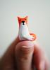Mini Fox (SOMETHiNG MONUMENTAL) Tags: sculpture orange nikon handmade painted clay tiny fox thumb d60 somethingmonumental mandycrandell