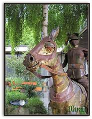 ..el corcel verde botella...... y su buen amo, el doncel... (AGirau ...) Tags: caballo flickr corcel lisandro verdebotella sisebuto agirau