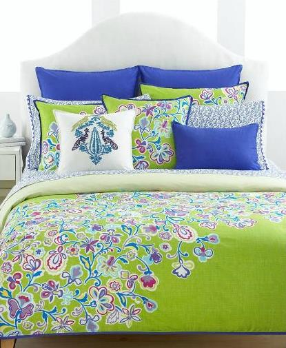 royal blue and lime bedding