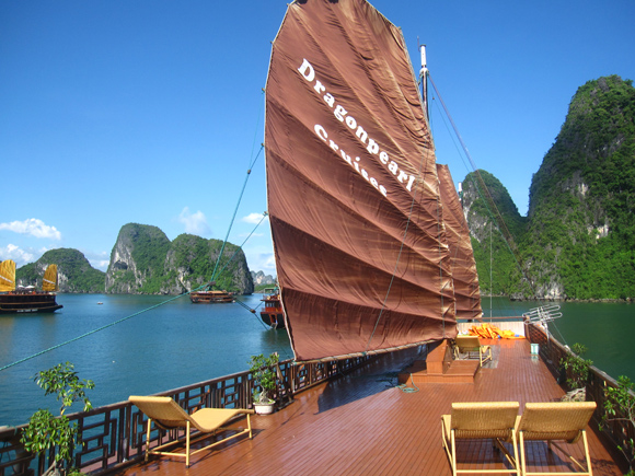Top Deck of the Chinese Junk
