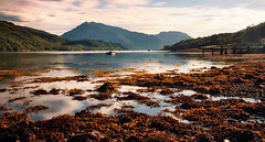 Loch Leven (Youronas) Tags: longexposure greatbritain sea mountain lake water coast scotland rocks loch leven schottland lochleven