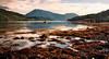 Loch Leven (Youronas) Tags: longexposure greatbritain sea mountain lake water coast scotland rocks loch leven schottland lochleven