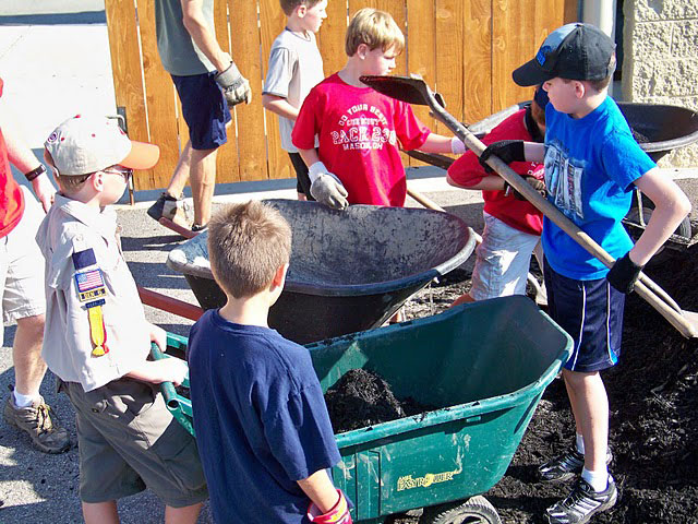 Mason Scouts Day of Service project