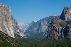 """Yosemite Valley View from """"Tunnel View"""" Point"""