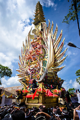 Cremation ceremony in Ubud