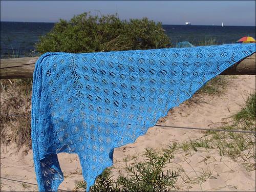 shetland triangle shawl 2
