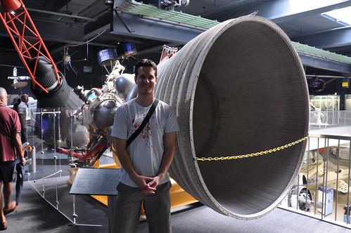 Munich - A Saturn V rocket engine