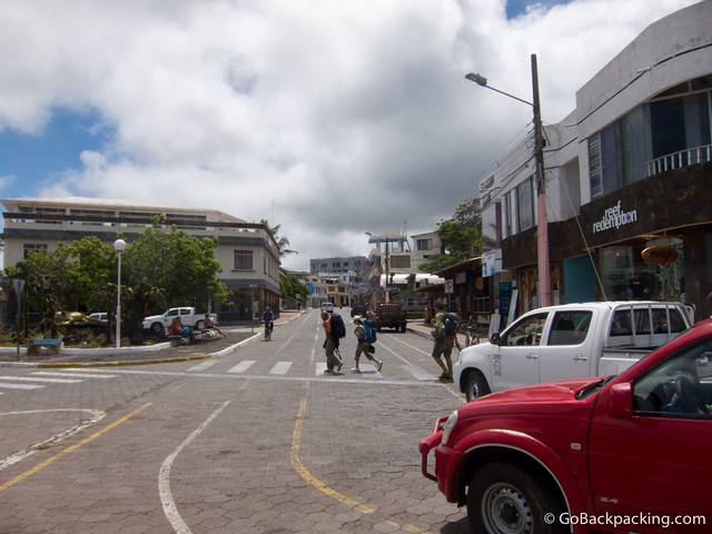 Backpackers in Punta Ayora