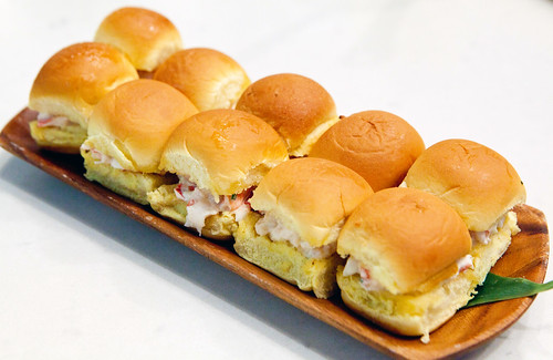 Tray of lobster rolls