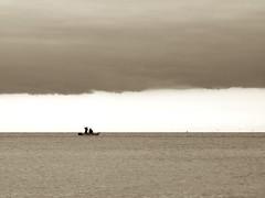 Head back for port [Explored] (mlcaunter) Tags: ocean sea christchurch bw squall pen boat fishing olympus dorset bournemouth mudeford avonbeach epl1