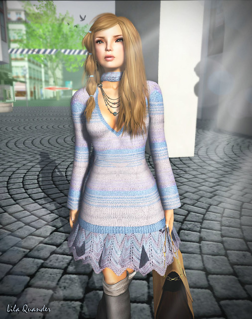 Mimikri Missy Dress - Blue & TRUTH Martina - Honey