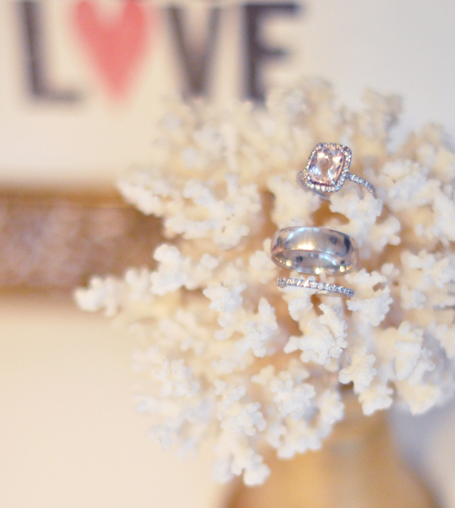wedding rings +  love + coral + rings+