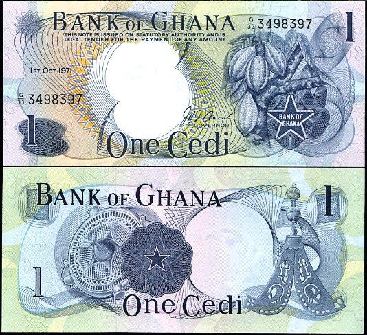 1 Cedi Ghana 1971, Pick 10d