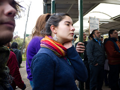 CL Society 123: Colored scarf (francisco_osorio) Tags: chile santiago girl student university protest chilean