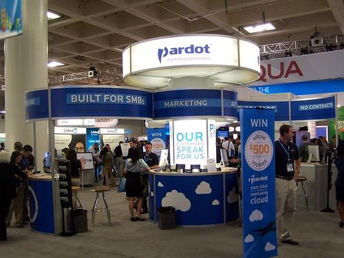 Pardot on Cloud Expo floor