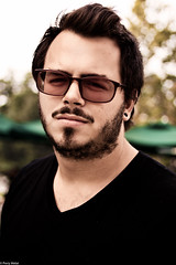 Brian (prmelat) Tags: light boy portrait man college beautiful sunglasses hair glasses natural florida bokeh brian smooth hipster handsome teen sound stache mustache engineer facial silky raybans vneck