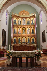 Cathedral Basilica of St. Francis of Assisi - Main Altar and Reredos (Itinerant Wanderer) Tags: newmexico santafe catholic altar cathedralbasilicaofsaintfrancisofassisi