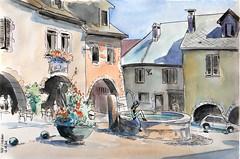 2011_08_12  Alby-sur-Chéran  France (m.JaKar) Tags: sketch aquarelle croquis hautesavoie personnages albysurchéran