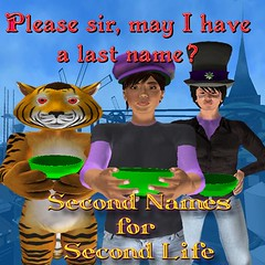 Second Names for Second Lives! Image designed by Toady Nakamura