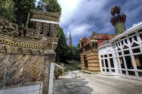 Capricho of Gaudí backyard. Comillas. Cantabria. Patio del capricho de Gaudí