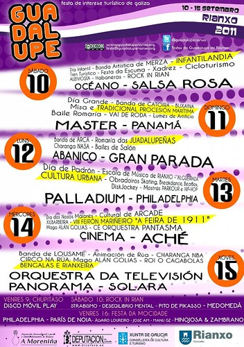 Rianxo 2011 - Festas da Guadalupe - programa