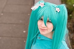 [Free Image] People, Women, Cosplay, Hatsune Miku, Character Vocal Series, 201109131500