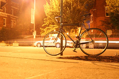 8/21/2011 (349/365) (Fire At Will [Photography]) Tags: light bike bicycle night project virginia photo long exposure university day streak richmond 365 vcu commonwealth rva twillight