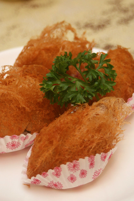 Deep-Fried Yam Stuffed with Minced Chicken ($3.80 for 3 pieces)