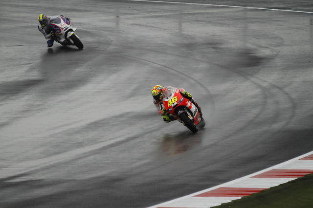 Valentino Rossi and Karel Abraham