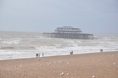 Brighton_beach_003 (Peter-Williams) Tags: uk sea seascape beach sussex pier brighton deckchair wave shore groyne
