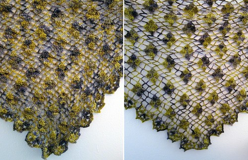 sumire's shawl and blocking