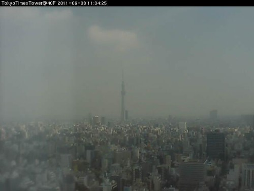 Webcam of Tokyo, Japan on 08. September 2011, 02:34