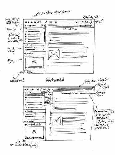 Pear Note: UI Concept Sketches