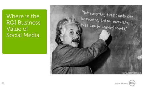 Dell, ROI, Social Media y Albert Einstein