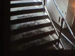 stairwell (f l a m i n g o) Tags: show people tv screenshot memorial poem remember escape sad debris 911 stairwell stairway read staircase tragedy hero dust channel grief tlc grieve theheroesofthe88thfloor