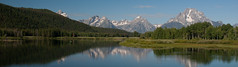 Teton Range Reflection (tvest) Tags: mountain mountains reflection nature canon geography wyoming geology tetons grandtetonnationalpark oxbowbend mtmoran