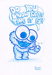cookie monster pencil drawingCookie Monster Pencil Drawing