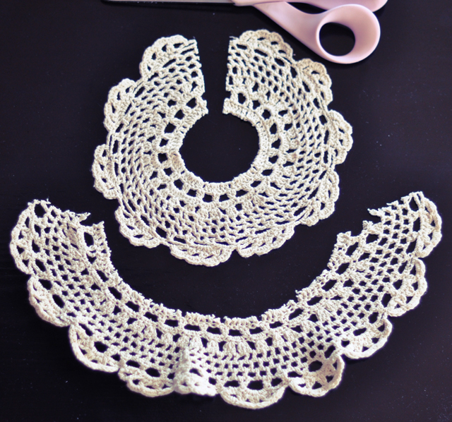 DIY doily lace collar-4